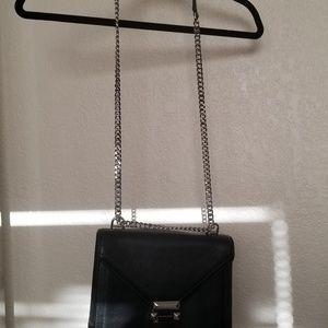 Michael Kors medium leather silver chain purse